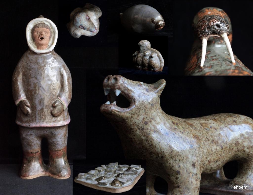 pottery Eskimo sculpture