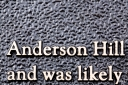 Anderson Hill bronze text