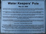 water keeper ground plaque