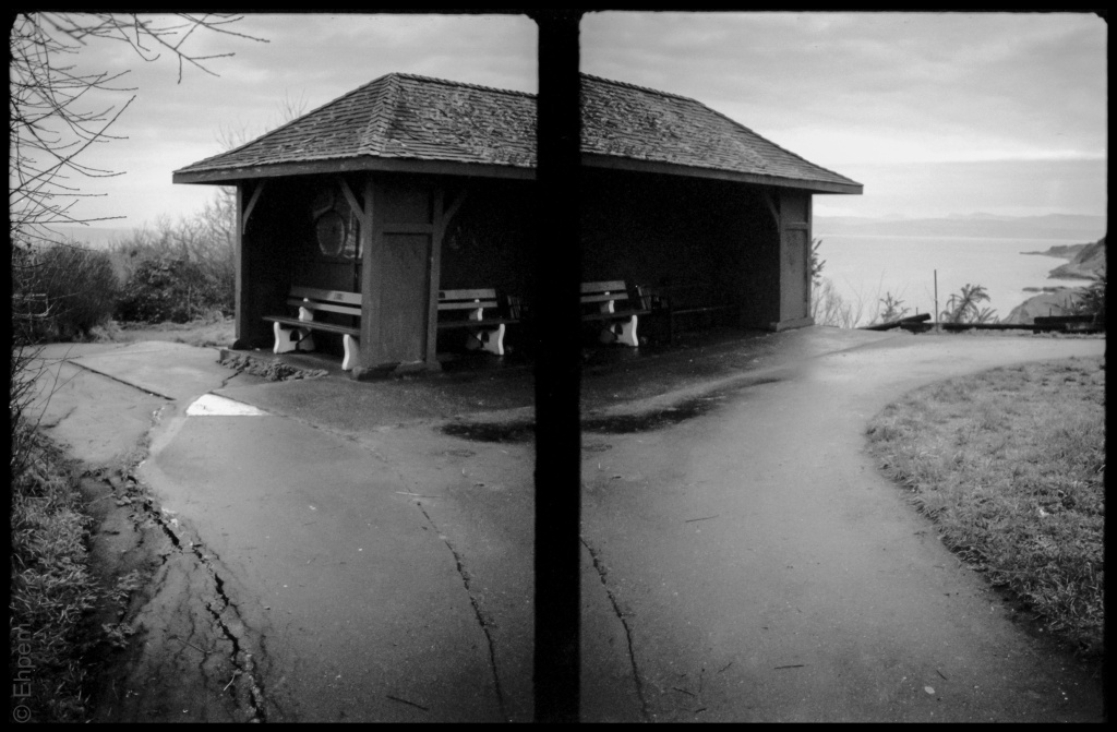 Finlayson Point shelter diptych