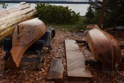 canoe and longboat